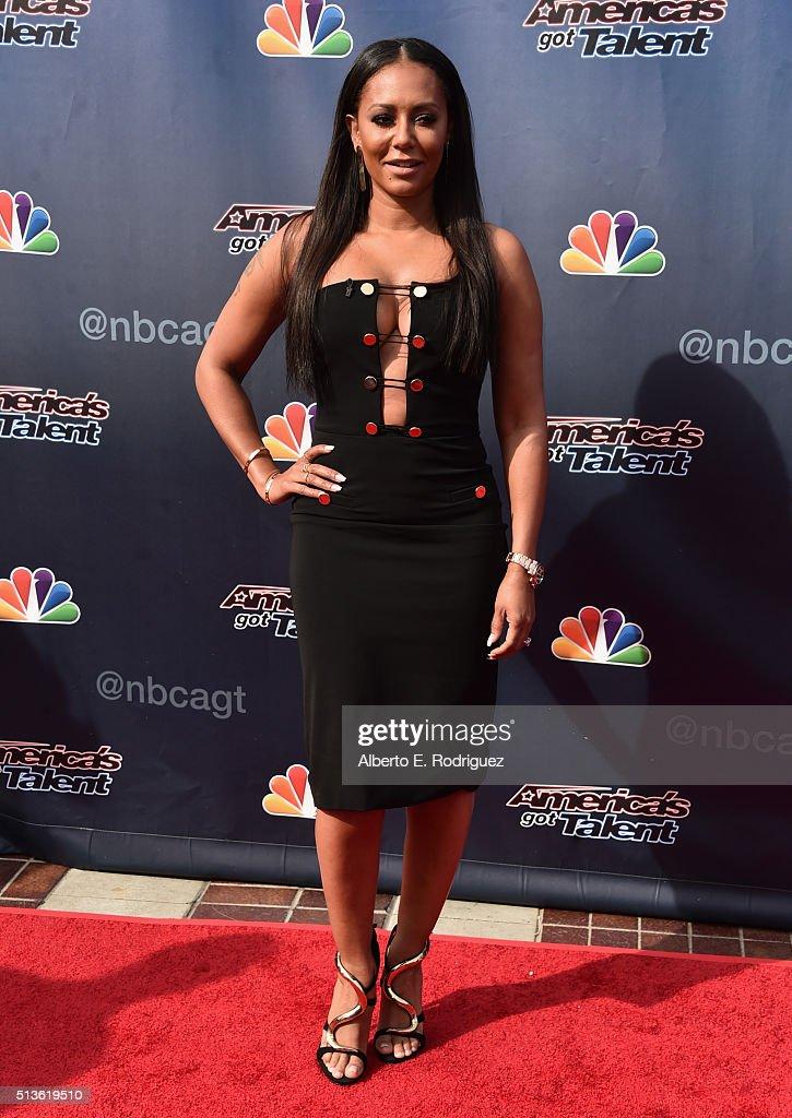 Recording artist Mel B attends NBC's 'America's Got Talent' Season 11 Kickoff at Pasadena Civic Auditorium on March 3, 2016 in Pasadena, California.