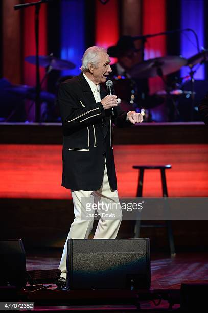 Recording Artist Mel Tillis performs at The Grand Ole Opry on June 13 2015 in Nashville Tennessee