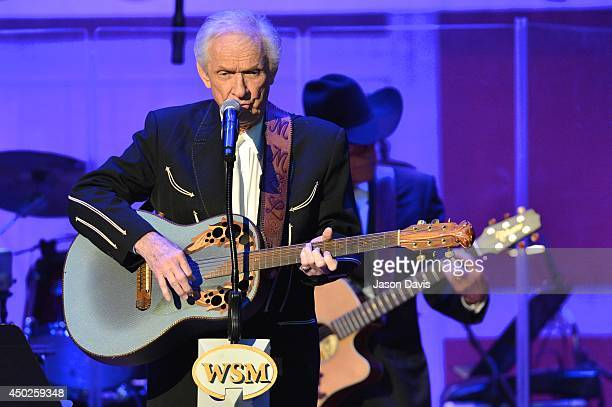 Recording Artist Mel Tillis performs at The Grand Ole Opry on June 7 2014 in Nashville Tennessee