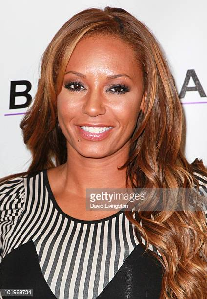 Recording artist Melanie Brown aka Mel B attends the grand opening of Bravada Women's Athletica on Robertson Blvd on June 10 2010 in Los Angeles...