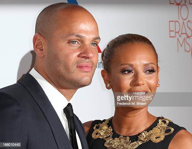 Recording artist Melanie Brown and her guest attend the 20th Annual Race to Erase MS Gala Love to Erase MS at the Hyatt Regency Century Plaza on May...