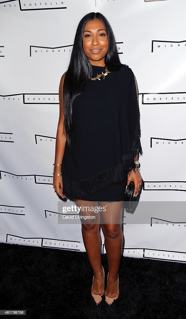 Recording artist Melanie Fiona attends the Michael Costello and Style PR Capsule Collection launch party on July 23, 2015 in Los Angeles, California.
