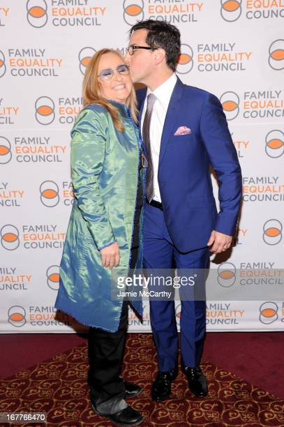 Recording artist Melissa Etheridge and actor Dan Bucatinsky attend the Family Equality Council's Night at the Pier at Pier 60 on April 29 2013 in New...