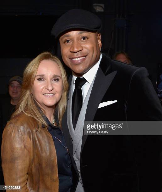 Recording artist Melissa Etheridge and host LL Cool J attend The GRAMMY Nominations Concert Live Countdown to Music's Biggest Night at Nokia Theatre...