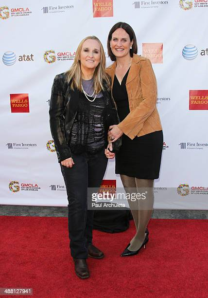 Recording Artist Melissa Etheridge and Linda Wallem attend 3rd Annual Voice Awards at The Globe Theatre at Universal Studios on May 3 2014 in...