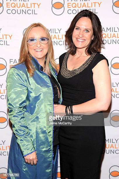Recording artist Melissa Etheridge and Linda Wallem attend the Family Equality Council's Night at the Pier at Pier 60 on April 29 2013 in New York...
