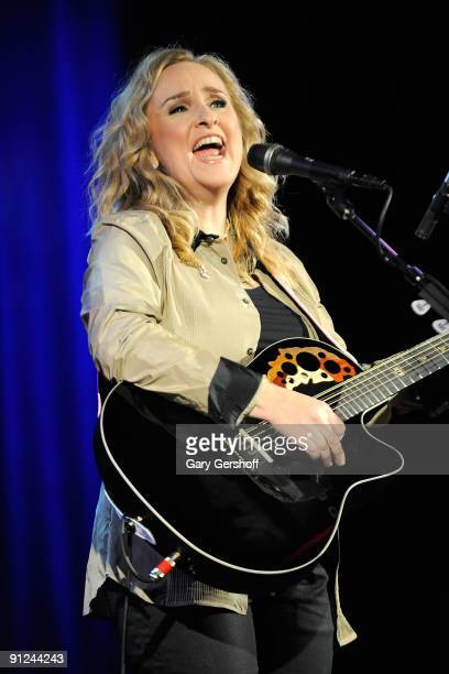 Recording artist Melissa Etheridge attends the 2009 Pinktober campaign to benefit the Breast Cancer Research Foundation at the Hard Rock Cafe Times...