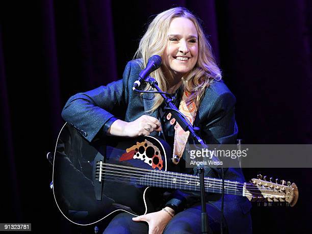 Recording artist Melissa Etheridge performs at the annual Country Music Hall of Fame and Museum's 'All for the Hall Los Angeles' Benefit at Club...