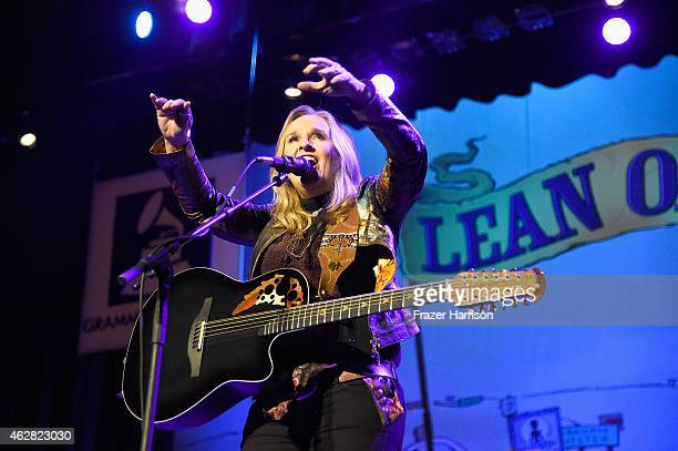 Recording artist Melissa Etheridge performs onstage during the GRAMMY Foundation's 17th annual Legacy Concert Lean On Me A Celebration of Music and...
