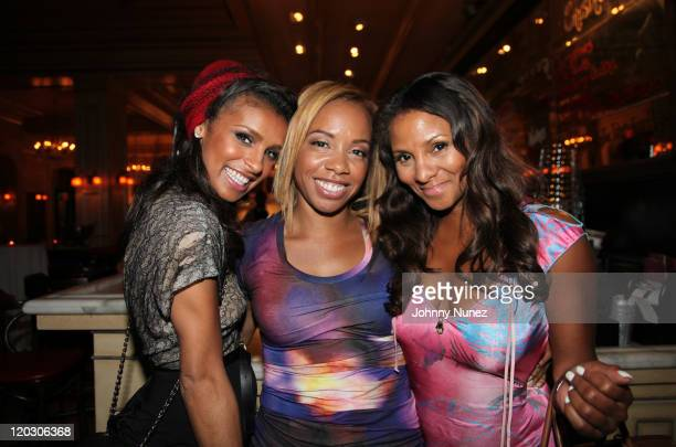 Recording artist Melody Thornton artist manager and music executive Phillana Williams and President and CEO of The Britto Agency Marvet Britto...