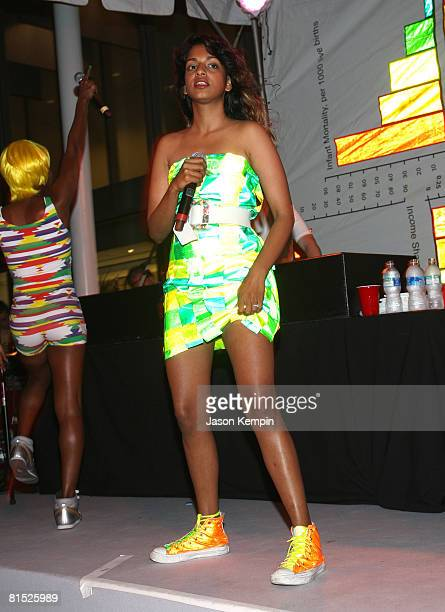 Recording artist MIA performs at the 40th Annual Museum of Modern Art's Party in the Garden at Abby Aldrich Rockefeller Sculpture Garden at The...