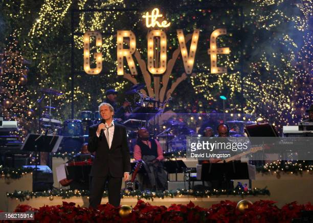 Recording artist Michael Bolton performs on stage at the 10th Annual Hollywood Christmas Celebration at The Grove on November 11 2012 in Los Angeles...