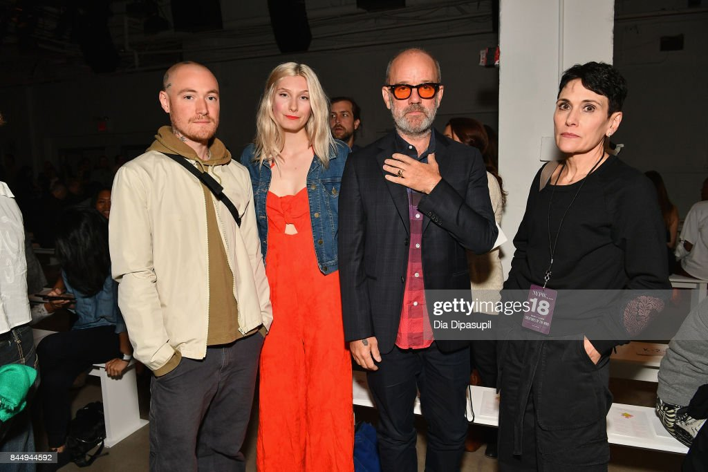 Recording artist Michael Stipe and guests attend the Creatures of the Wind fashion show during New York Fashion Week: The Shows at Gallery 2, Skylight Clarkson Sq on September 9, 2017 in New York City.