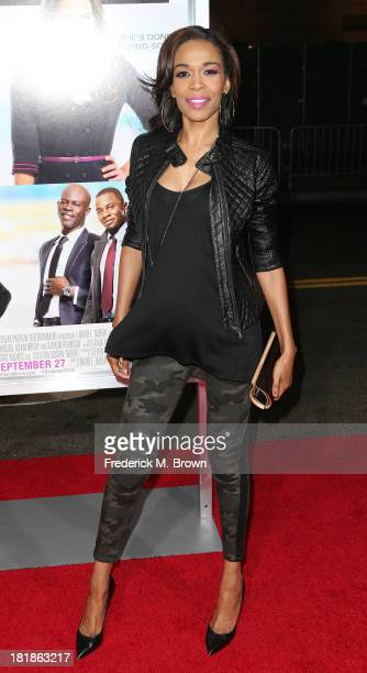Recording artist Michelle Williams attends the premiere of Fox Searchlight Pictures' Baggage Claim at the Regal Cinemas LA Live on September 25 2013...
