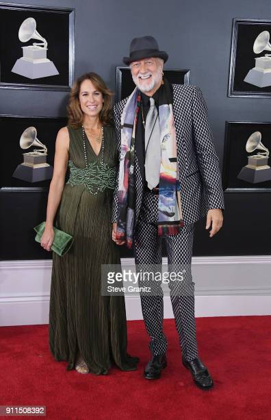 Recording artist Mick Fleetwood of Fleetwood Mac and Lynn Frankel attend the 60th Annual GRAMMY Awards at Madison Square Garden on January 28 2018 in...