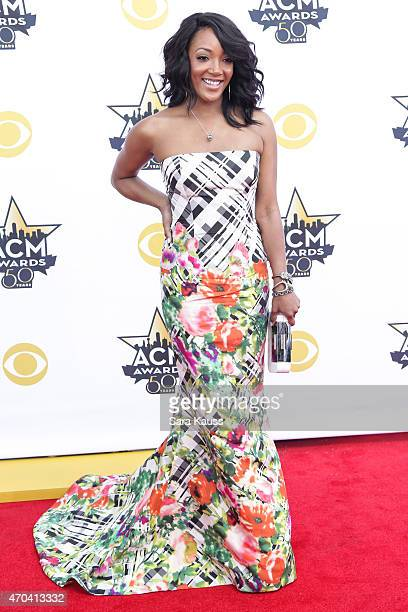 Recording artist Mickey Guyton attends the 50th Academy of Country Music Awards at ATT Stadium on April 19 2015 in Arlington Texas