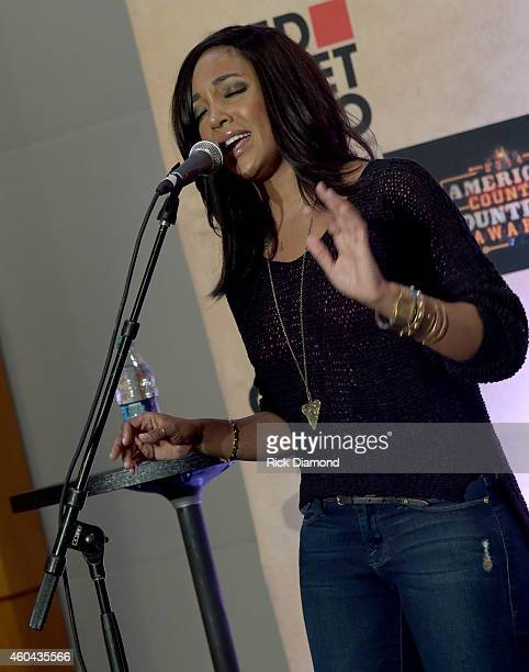 Recording Artist Mickey Guyton performs at Red Carpet Radio Presented By Westwood One For The American County Countdown Awards at the Music City...