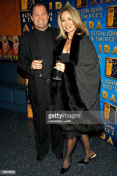 Recording artist Micky Dolenz and his wife attend the after party for Destiny's Child member Michelle Williams' Broadway debut in the musical 'Aida'...