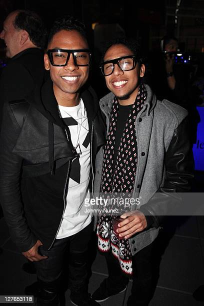 Recording artist Miguel and brother Nick Pimentel attend the Miguel Hennessy Black Party at Bar Basque on March 29 2011 in New York City