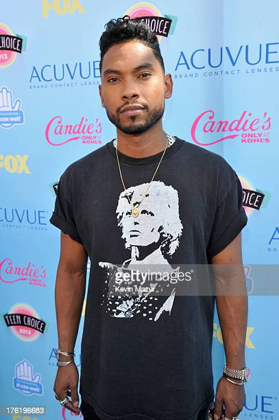 Recording artist Miguel attends the 2013 Teen Choice Awards at Gibson Amphitheatre on August 11 2013 in Universal City California