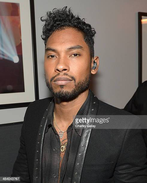 Recording artist Miguel attends The GRAMMY Nominations Concert Live Countdown to Music's Biggest Night at Nokia Theatre LA Live on December 6 2013 in...