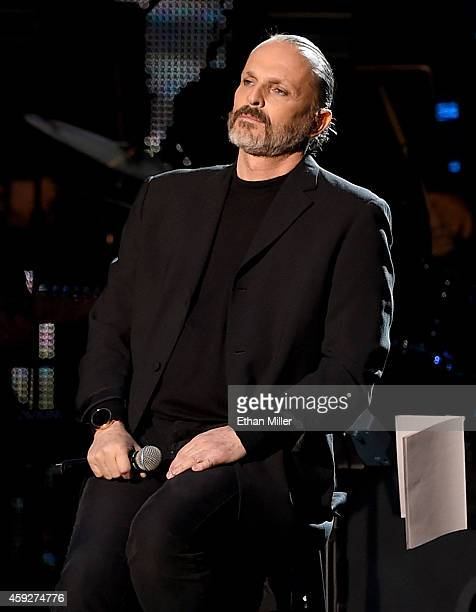Recording artist Miguel Bose performs onstage during the 2014 Person of the Year honoring Joan Manuel Serrat at the Mandalay Bay Events Center on...