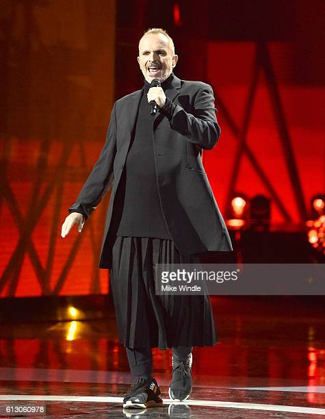 Recording artist Miguel Bose performs onstage during the 2016 Latin American Music Awards at Dolby Theatre on October 6 2016 in Hollywood California