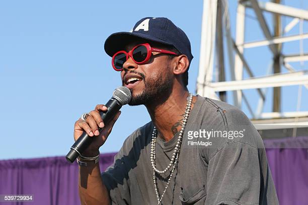 Recording artist Miguel performs at The Tower during Day 4 of the 2016 Bonnaroo Arts And Music Festival on June 12 2016 in Manchester Tennessee