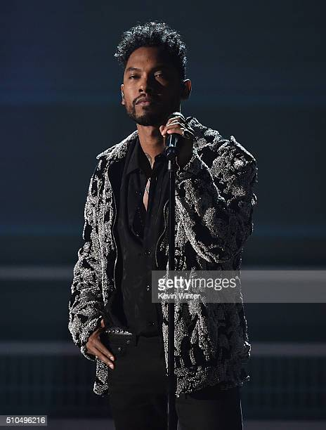 Recording artist Miguel performs onstage during The 58th GRAMMY Awards at Staples Center on February 15 2016 in Los Angeles California