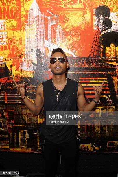 Recording artist Miguel visits the Vevo Recording Studio during HOT 97 Summer Jam XX at MetLife Stadium on June 2 2013 in East Rutherford New Jersey
