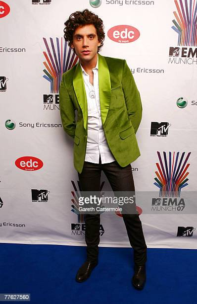 Recording artist Mika poses in the Awards Room during the MTV Europe Music Awards 2007 at the Olympiahalle on November 1 2007 in Munich Germany