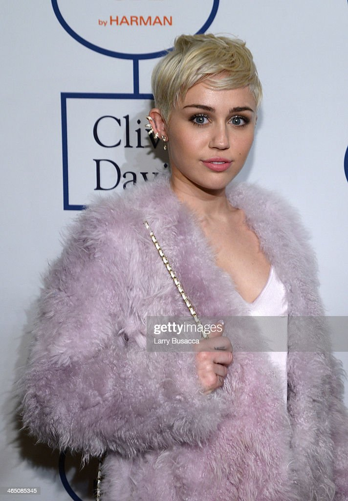 Recording artist Miley Cyrus attends the 56th annual GRAMMY Awards Pre-GRAMMY Gala and Salute to Industry Icons honoring Lucian Grainge at The Beverly Hilton on January 25, 2014 in Beverly Hills, California.