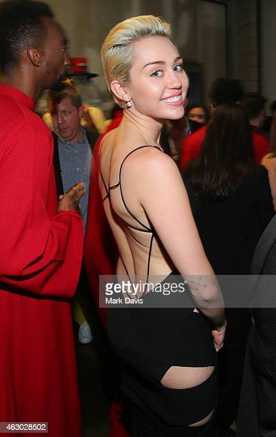 Recording artist Miley Cyrus attends The 57th Annual GRAMMY Awards at STAPLES Center on February 8 2015 in Los Angeles California