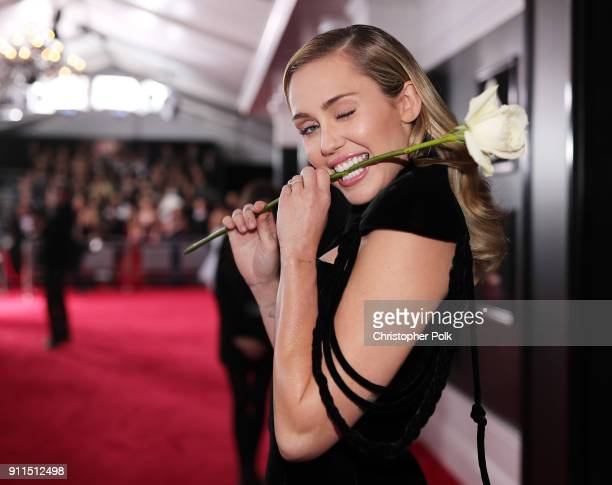 Recording artist Miley Cyrus attends the 60th Annual GRAMMY Awards at Madison Square Garden on January 28 2018 in New York City