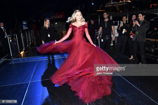 Recording artist Miley Cyrus attends the 60th Annual GRAMMY Awards at Madison Square Garden on January 28, 2018 in New York City.