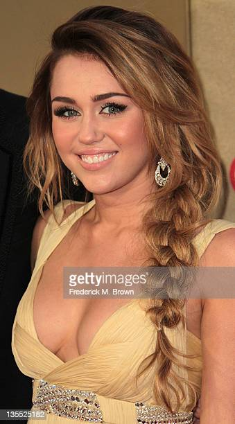 Recording artist Miley Cyrus attends the CNN Heroes An AllStar Tribute at The Shrine Auditorium on December 11 2011 in Los Angeles California