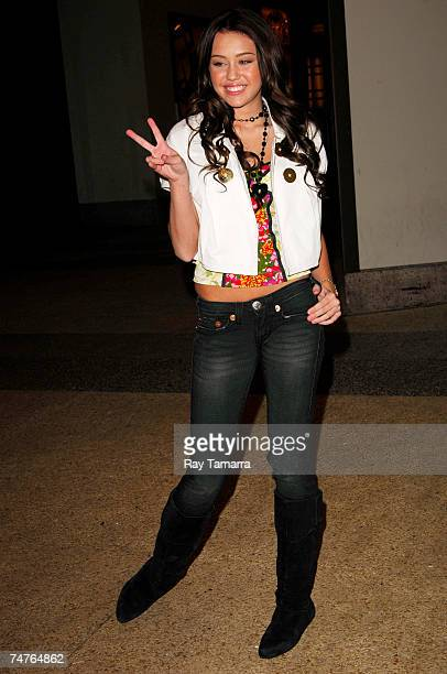 Recording artist Miley Cyrus leaves the 'TRL' taping at the MTV Studios June 18 2007 in New York City