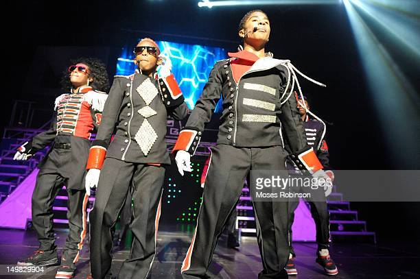 Recording artist Mindless Behavior perform during the Girl Tour at The Fox Theatre on August 4 2012 in Atlanta Georgia