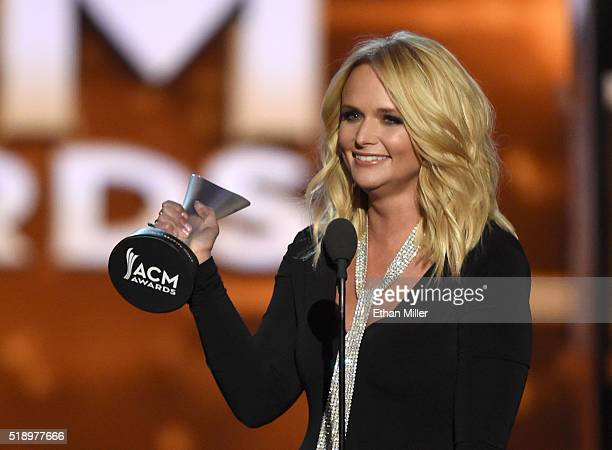 Recording artist Miranda Lambert accepts the Female Vocalist of the Year award onstage during the 51st Academy of Country Music Awards at MGM Grand...