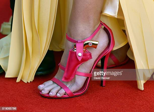 Recording artist Miranda Lambert shoe detail attends the 51st Academy of Country Music Awards at MGM Grand Garden Arena on April 3 2016 in Las Vegas...
