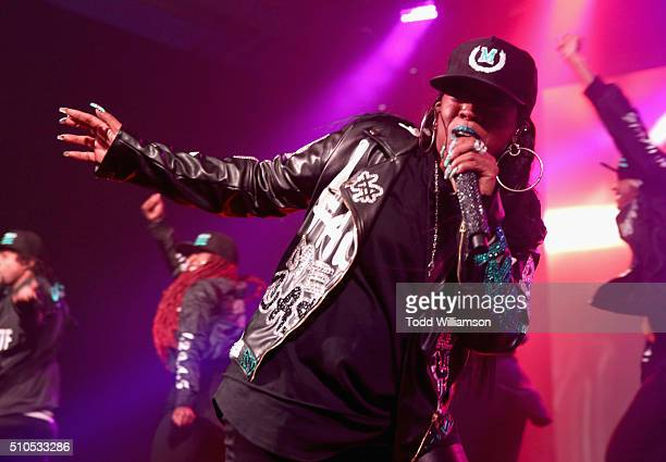 Recording artist Missy Elliott performs onstage during Warner Music Group's annual Grammy celebration at Milk Studios Los Angeles on February 15 2016...