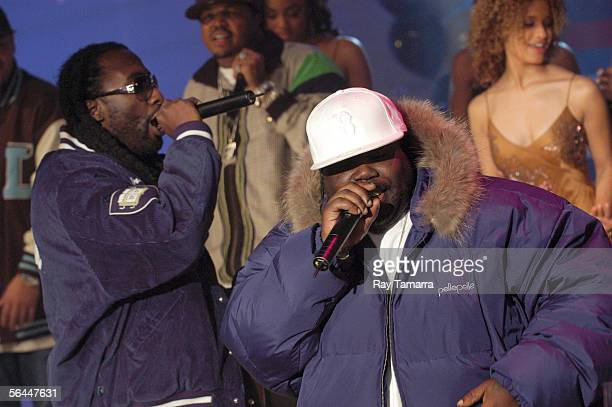 Recording artist MJG and 8Ball perform at '106 And Park's' 106 And Party New Years Eve Show Taping at CBS Studios December 16 2005 in New York City