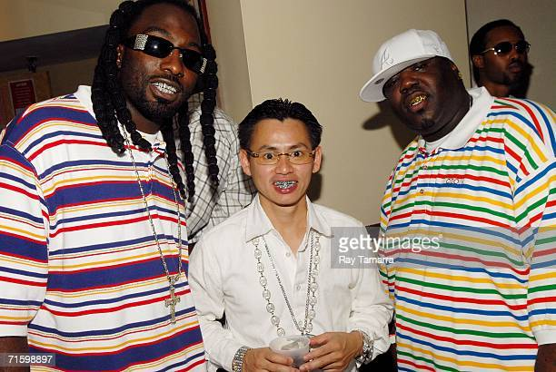 Recording artist MJG jeweler TV Johnny Dang and recording artist 8Ball attends the First Annual Ozone Awards at the Bob Carr Auditorium August 06...