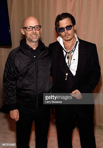 Recording artist Moby and actor Johnny Depp attend the Art of Elysium and Samsung Galaxy present Marina Abramovic's HEAVEN at GREY GOOSEsupported Art...