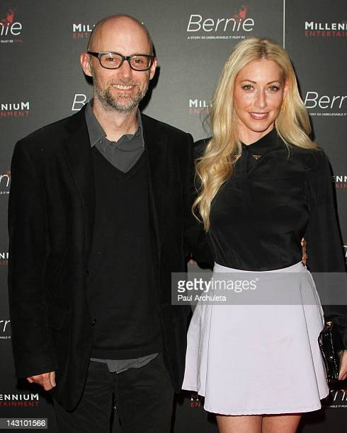 Recording Artist Moby and Actress Julie Mintz attend the Bernie Los Angeles premiere at the ArcLight Cinemas on April 18 2012 in Hollywood California