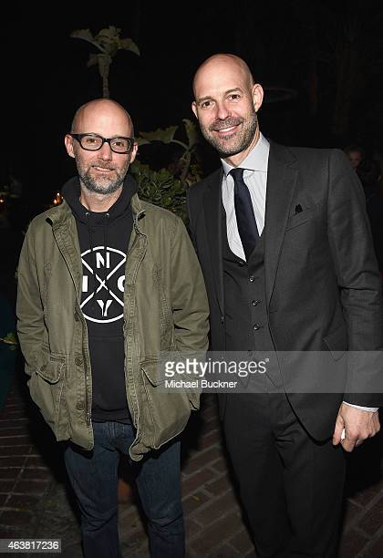 Recording artist Moby and publisher of Vanity Fair Chris Mitchell attend VANITY FAIR and Barneys New York Dinner benefiting OXFAM hosted by Rooney...