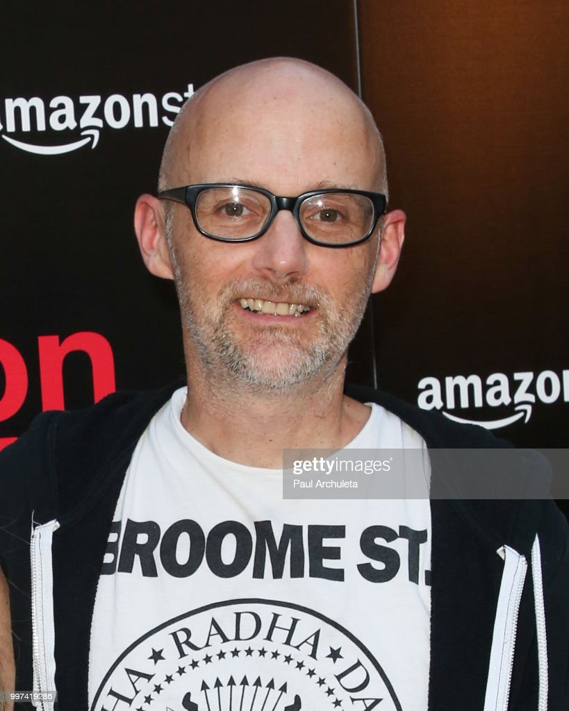 Recording Artist Moby attends the premiere of Amazon Studios' 'Generation Wealth' at ArcLight Hollywood on July 12, 2018 in Hollywood, California.