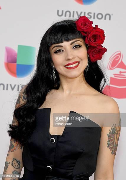 Recording artist Mon Laferte attends The 17th Annual Latin Grammy Awards at TMobile Arena on November 17 2016 in Las Vegas Nevada