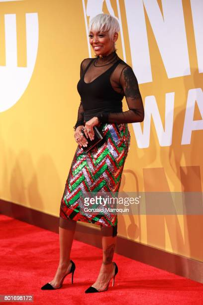 Recording artist Monica attends the 2017 NBA Awards at Basketball City - Pier 36 - South Street on June 26, 2017 in New York City.