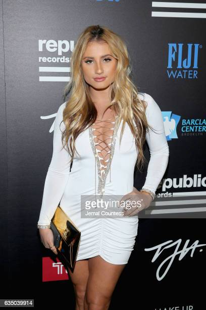 Recording artist Montana Tucker at a celebration of music with Republic Records in partnership with Absolut and Pryma at Catch LA on February 12 2017...